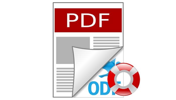 recover PDF files
