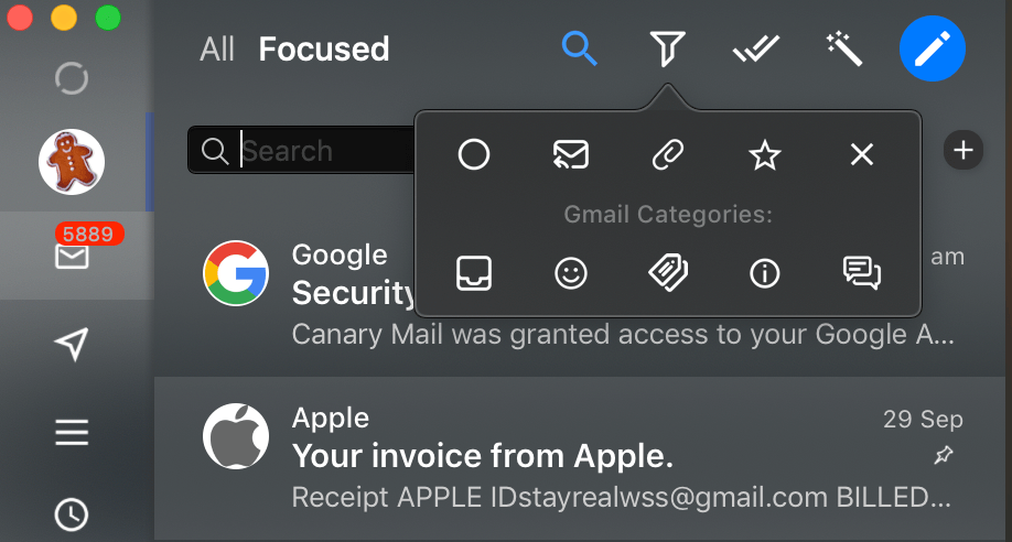 Canary Mail 8