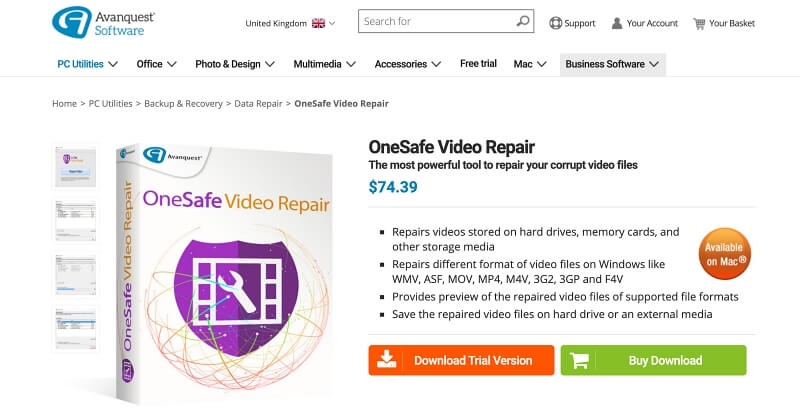 OneSafe Video Repair