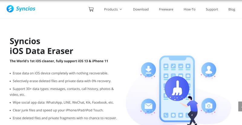 Syncios iOS Data Eraser_1