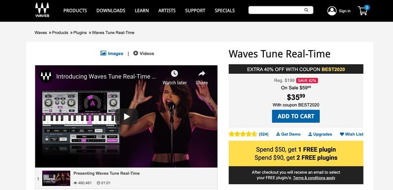 Waves Tune Real Time