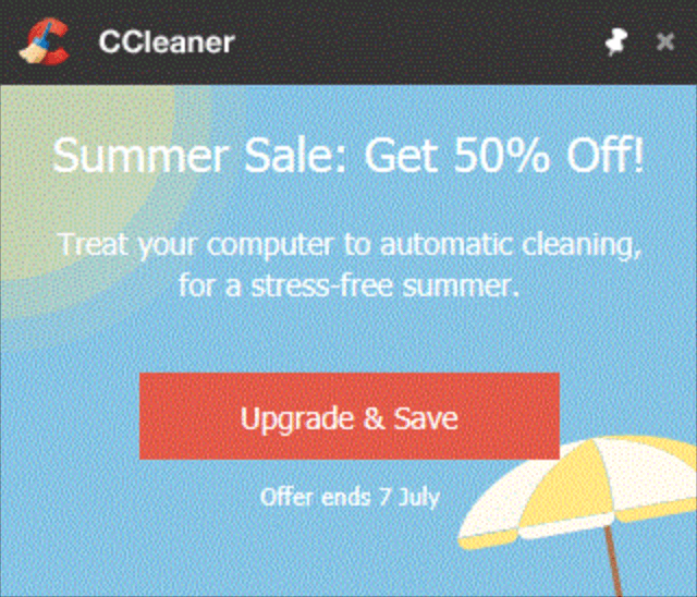 ccleaner pop-up