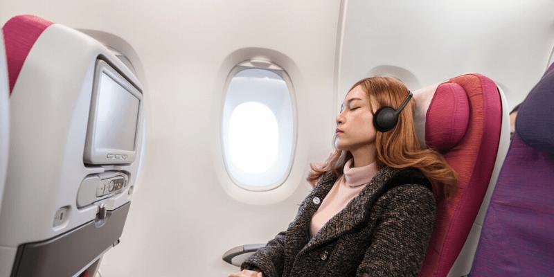 headphones sleep airplane
