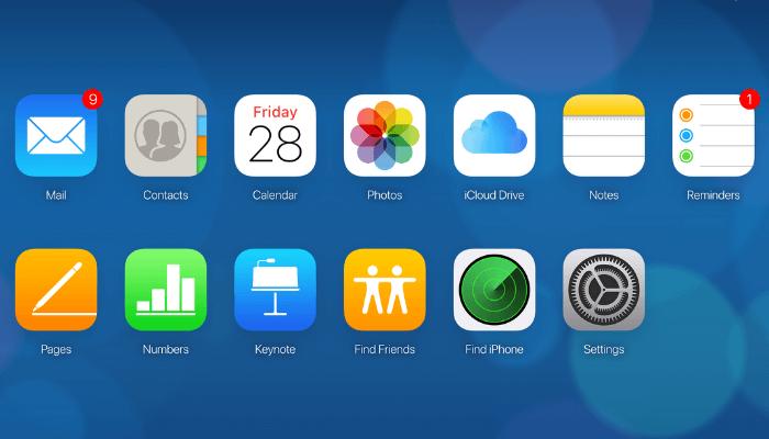 icloud app dashboard