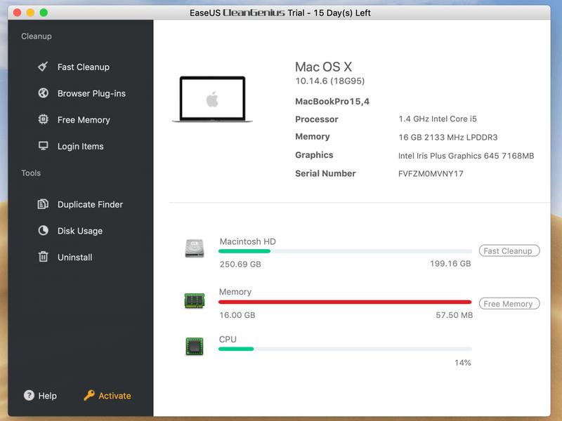 EaseUS CleanGenius for Mac