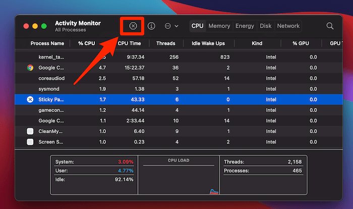 macos big sur activity monitor