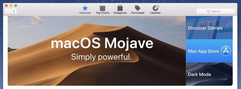 macOS Mojave on Mac App Store