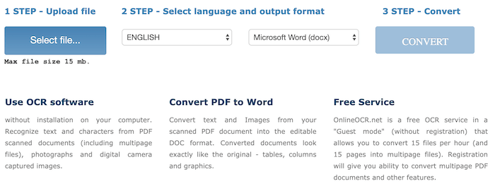 convert scanned pdf to word free